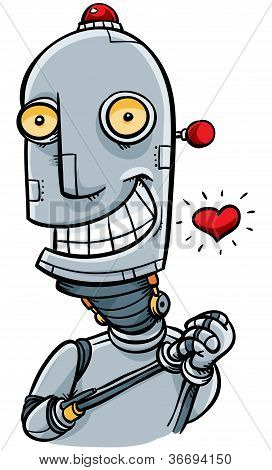 Cartoon Robot in Love