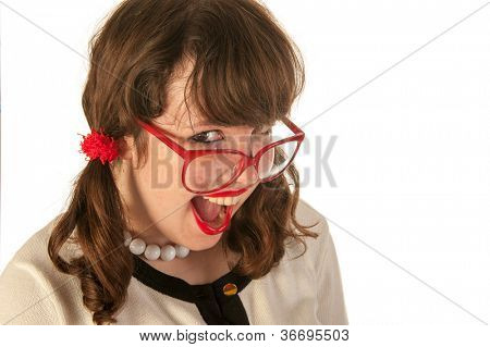 Portrait of a young girl while having fun
