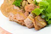 Gourmet Tenderloin Steak With Mushroom Creme Sauce poster