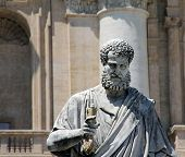 Saint Peter statue in the Vatican