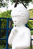 stock photo of annal  - the white image statue in garden of thailand  - JPG