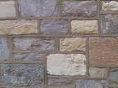 pic of fieldstone-wall  - wall of stone church in pennsylvania - JPG