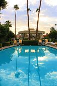 picture of cabana  - Luxury pool reflections taken during sunrise in Palm Springs - JPG