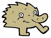 funny little furry creature cartoon poster