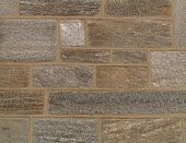 foto of fieldstone-wall  - gray and tan stone wall with mica - JPG