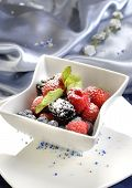 picture of gourmet food  - berry sweet dessert restaurant - JPG