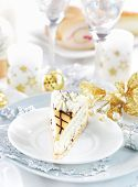 Постер, плакат: Традиционные marchpane крем торт на Рождество