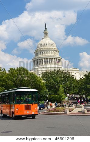 WASHINGTON, DC - AUGUST 03: United States Capitol Building on August 03, 2012 in Washington DC,United States. The Capitol Building is a tourist attraction point in Washington DC.