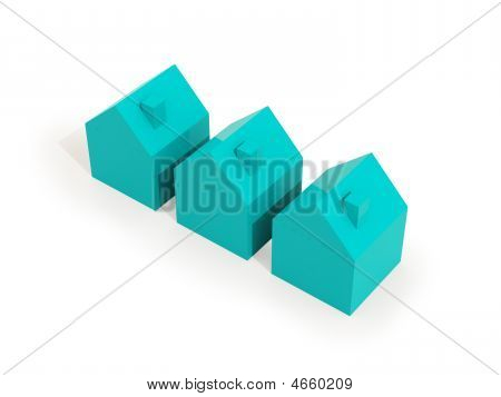 Three Houses Light Blue