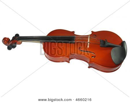 Musical Classic Violin Isolated On White Background