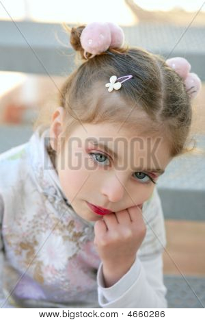Beautiful Little Caucasian Toddler Girl