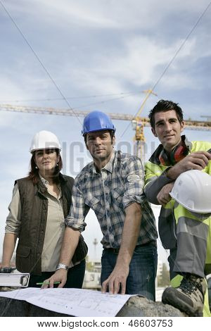 Construction colleagues