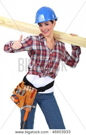Female carpenter