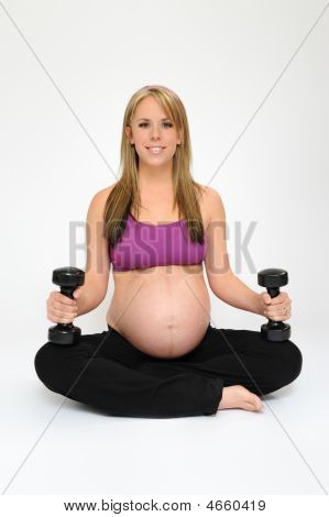 Pregnant Girl Exercising