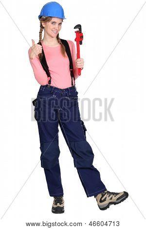Retrato de um tradeswoman