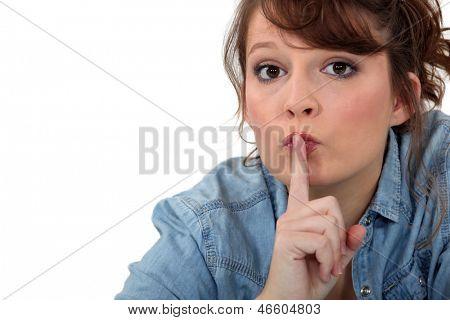 Frau ersuchenden Stille