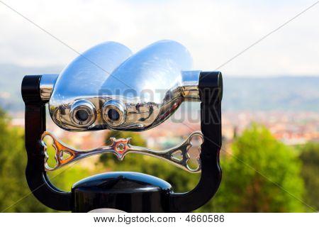 Binoculars In Town Hill