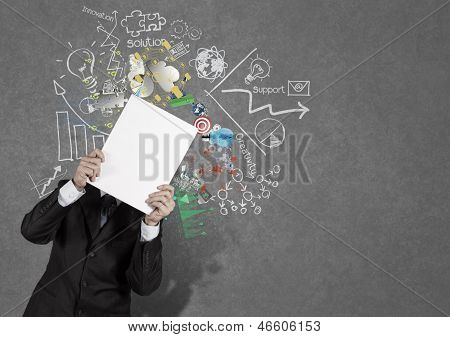 Businessman Hand Show Black Cover Book Of Success Business