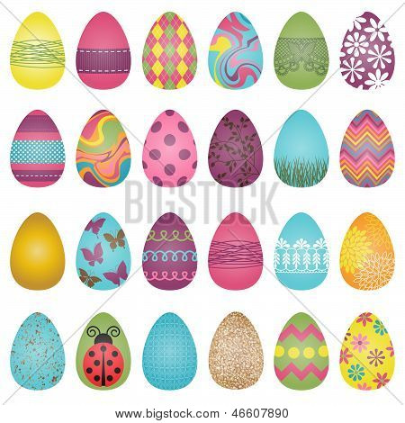 Large Vector Set of Easter Eggs