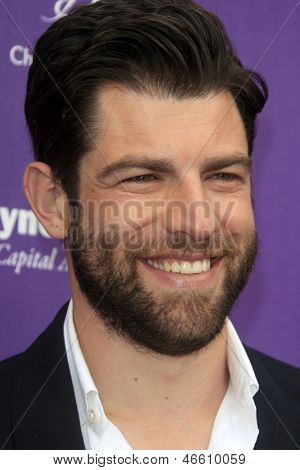 LOS ANGELES - JUN 8:  Max Greenfield arrives at the 12th Annual Chrysalis Butterfly Ball at the Private Residence on June 8, 2013 in Los Angeles, CA