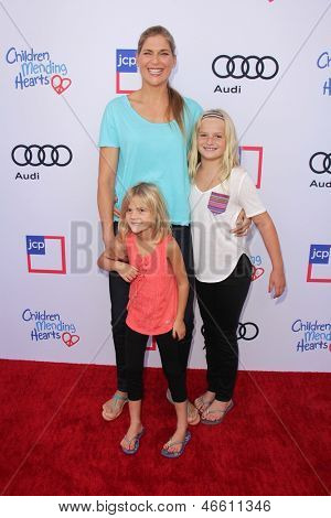 LOS ANGELES - JUN 8:  Gabrielle Reece, Brody Jo Hamilton, Reece Hamilton arrives at the 1st Annual Children Mending Hearts Style Sunday at the Private Residence on June 8, 2013 in Beverly Hills, CA