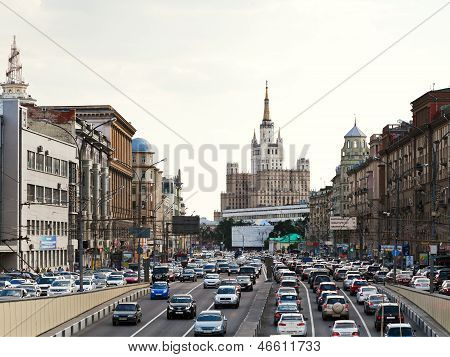 Big Garden (bolshaya Sadovaya) Street In Moscow