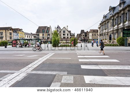 Central Square In Troyes, France