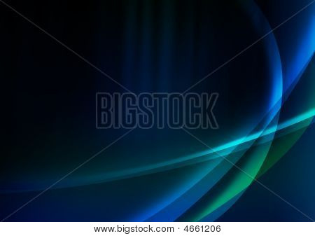 Futuristic Background With Neon Lines On A Blue Background