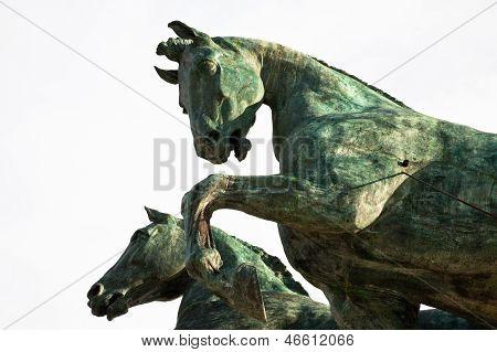 Horse On Top Of Monument Vittorio Emanuele Ii, Rome, Italy