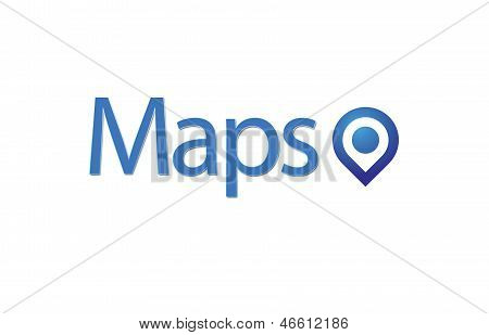 Map, blue Pointer and Business Strategy