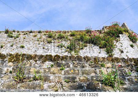 Medieval Rampart In Boulogne-sur-mer, France