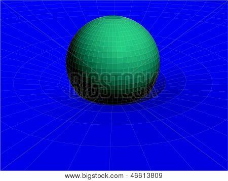Einsteins Draht Net allgemeine Theorie der Relativität Struktur Vektor