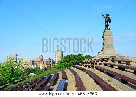 Samuel de Champlain statue in Ottawa