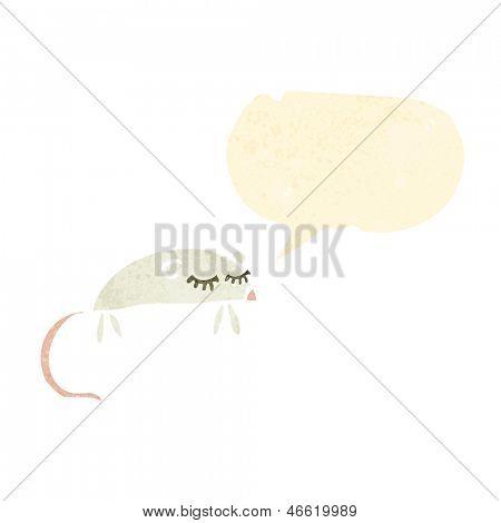 dibujos animados retro ratón blanco