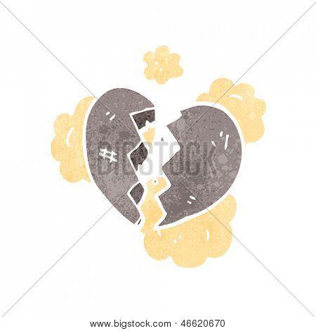 dibujos animados de corazón roto