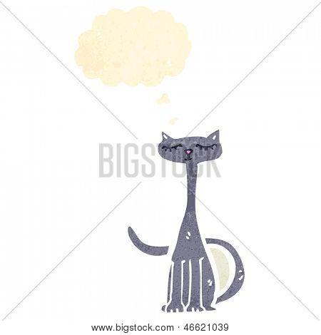 gato de dibujos animados retro