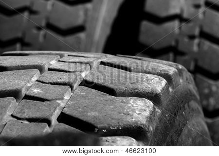 Heavey Equipment Tires with worn tread