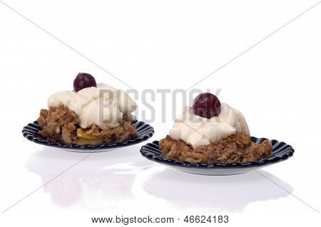 Flapjack Desert  Isolated On White