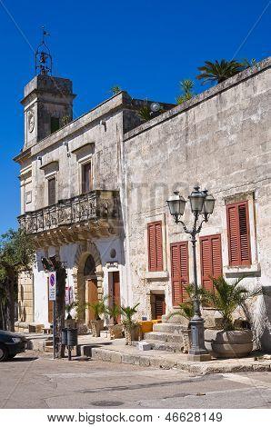 Clocktower. Palmariggi. Puglia. Italy.