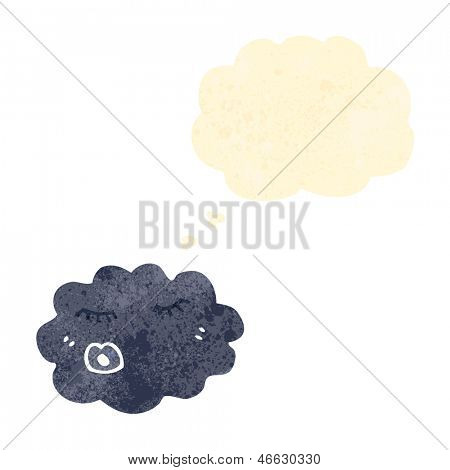 raincloud retro cartoon