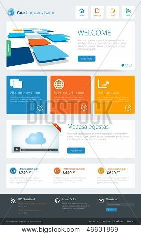 Metro Website Template
