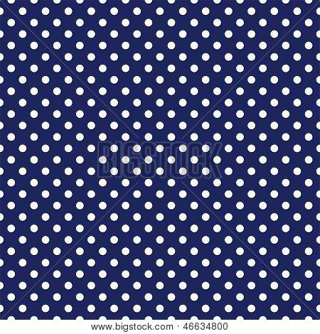 Patrón oscuro de vector transparente con lunares blancos sobre un fondo azul marino.