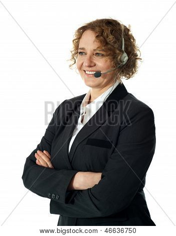 Female Customer Support Executive Assisting