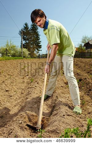 Man Working The Land