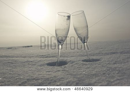Glass In Snow