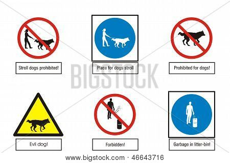 Art-Illustration of  road signs