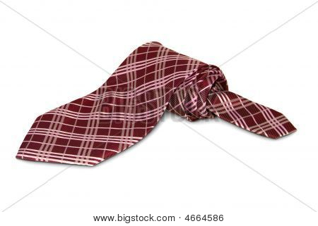 One Accurately Braided Tie Of Red Tones