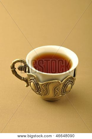 A retro islamic tea cup