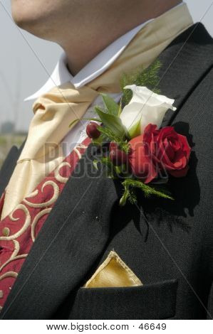Groom's Buttonhole - Roses