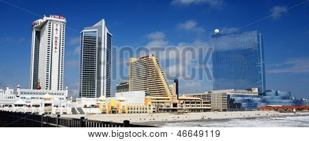 ATLANTIC CITY - SEPTEMBER 9: Skyline of Atlantic City September 9, 2012 in Atlanic City, NJ. The city received damage during Hurricane Sandy but is since on the rebound.
